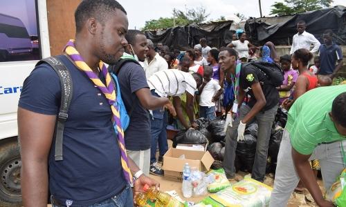 Face aux inondations : Les Scouts Catholiques de Côte d'Ivoire à la rescousse