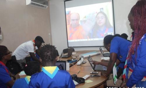 La salle Multimédia du siège de l'ASCCI connectée au Jota Joti !