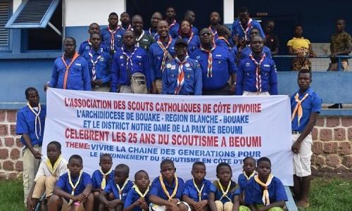 Célébration des 25 ans d'existence du Scoutisme Catholique à Béoumi