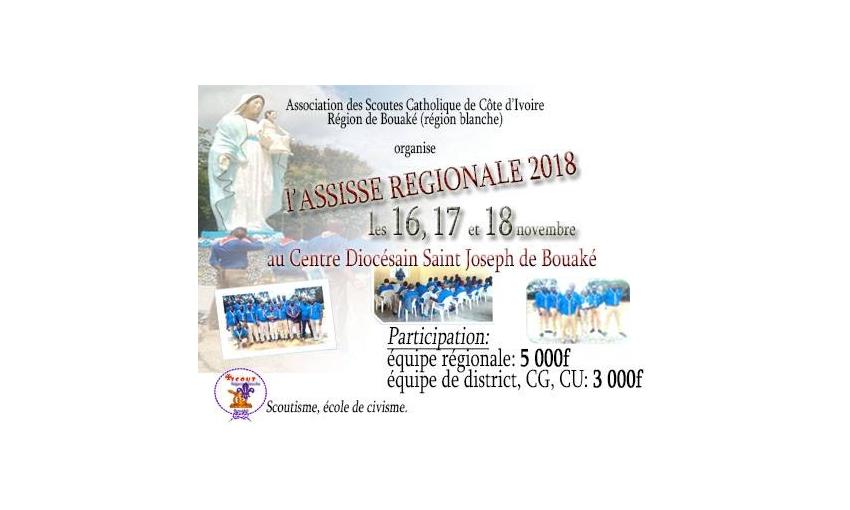 Lancement des activités de la Région scoute de Bouaké